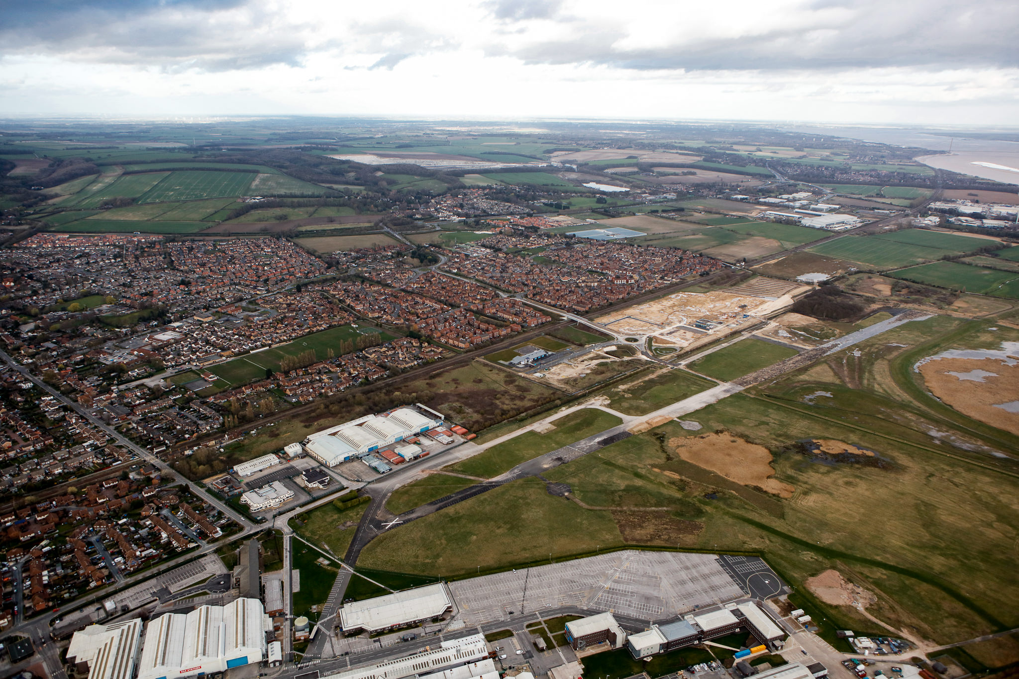 AERIAL SHOT OF BROUGH SOUTH