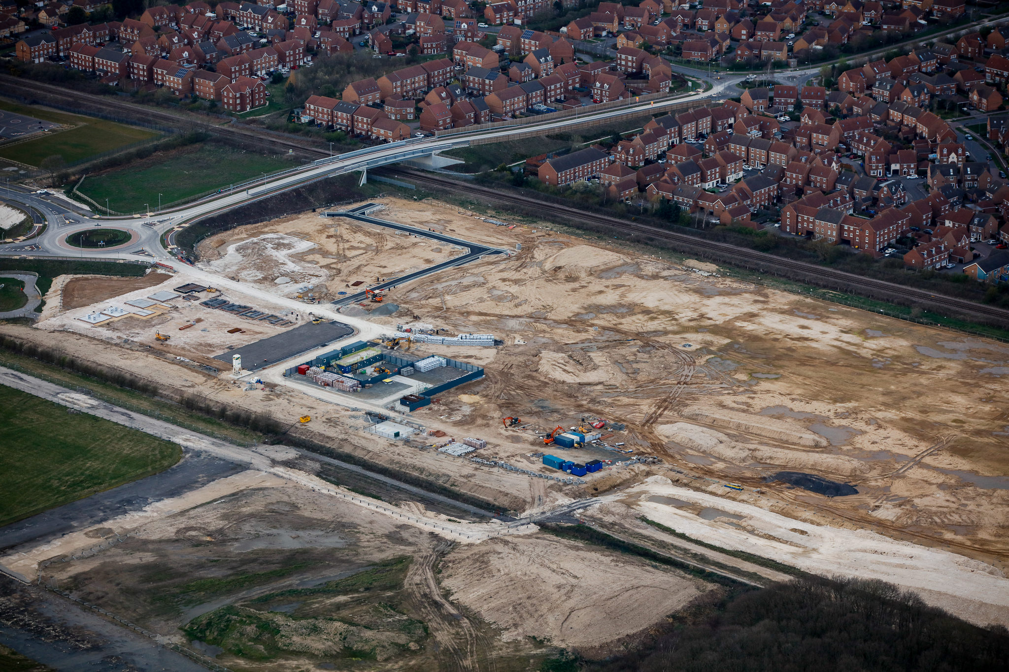 AERIAL SHOT OF BROUGH SOUTH DEVELOPMENT