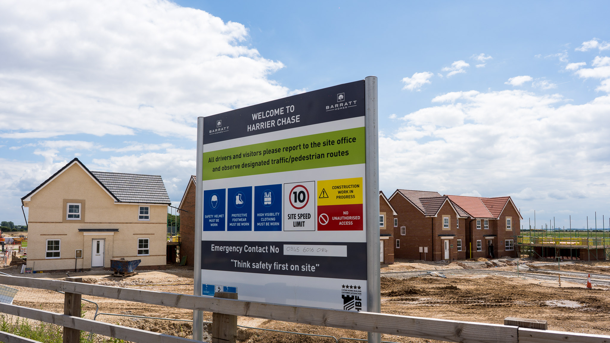 New homes being built at Brough South