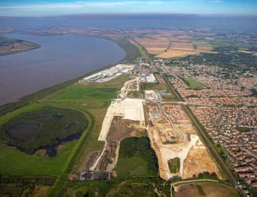 The latest aerial shots of Brough South